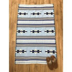 【チャイハネ】メキシカンボーダー柄ラグマット約90×150cm/チャイハネ(CAYHANE)