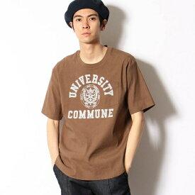 リネンストレッチ カレッジ 布帛Tシャツ/コムサコミューン(COMME CA COMMUNE)