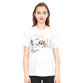 【ユニセックス】コラボレーションTシャツ/ぞうのエルマーアンドラインアート(ぞうのエルマー)/グラニフ(graniph)