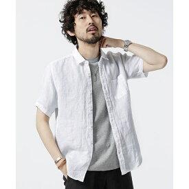 【19SS】Herdman Linenシャツ SS/ナノ・ユニバース(メンズ)(nano universe)