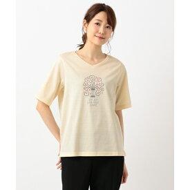 【洗える】ツリープリント カットソー/ジェーンモア Sサイズ(JANE MORE S)