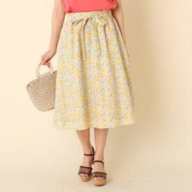 【WEB限定サイズ(S・LL)あり】【洗える】プチフラワーベルテッドスカート/クチュールブローチ(Couture Brooch)