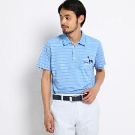 【吸水速乾】胸ポケット付き半袖ボーダーポロシャツ メンズ/アダバット(メンズ)(adabat(Mens))