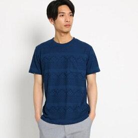リンクスジャガードTシャツ/ザ ショップ ティーケー(メンズ)(THE SHOP TK Mens)
