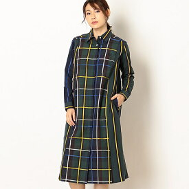 【19AW】PANELLED WOVEN SHIRT DRESS/フレッドペリー(レディス)(FRED PERRY)