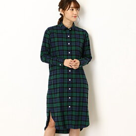 【19AW FUDGE 10月号】TARTAN SHIRT DRESS/フレッドペリー(レディス)(FRED PERRY)