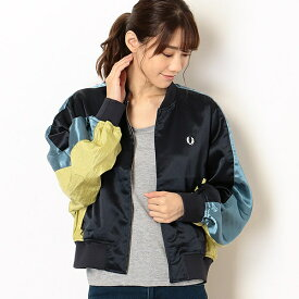 【19AW】PANELLED BOMBER JACKET/フレッドペリー(レディス)(FRED PERRY)
