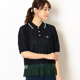 【19AW】<CLUEL掲載>KNITTED PIQUE SHIRT/フレッドペリー(レディス)(FRED PERRY)