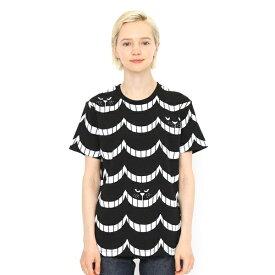 【ユニセックス】総柄Tシャツ/ヒーヒーキャット/グラニフ(graniph)
