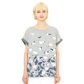 【レディース】バックボタンTシャツ/マンタ/グラニフ(graniph)