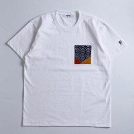 FDMTL / 折り紙ポケット 刺繍Tシャツ/ビームス ライツ(メンズ)(BEAMS LIGHTS)