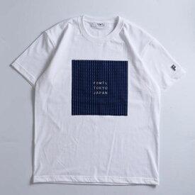 FDMTL / ロゴ 刺し子 クルーネックTシャツ/ビームス ライツ(メンズ)(BEAMS LIGHTS)