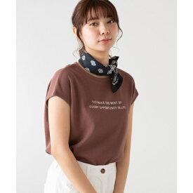 ワッフルロゴノースリーブTシャツ/ウィゴー(レディース)(WEGO)