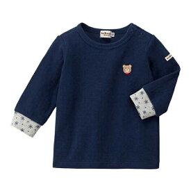 Tシャツ(接結天竺 / 袖口雪の結晶柄 / ワンポイント / 男の子・女の子) /ミキハウス ホットビスケッツ(MIKIHOUSE HOT BISCUITS)