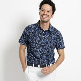 【吸水速乾UVカット】フラワープリント半袖ポロシャツ メンズ/アダバット(メンズ)(adabat(Mens))