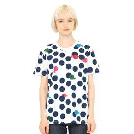 【ユニセックス】コラボレーションTシャツ/きんぎょがにげたドット(五味太郎)/グラニフ(graniph)