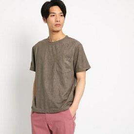 スエード半袖Tシャツ/ザ ショップ ティーケー(メンズ)(THE SHOP TK Mens)
