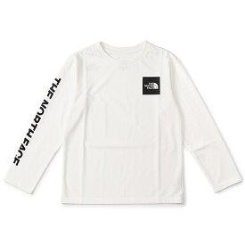 【THE NORTH FACE】Tシャツ(キッズ/ベビー ロングスリーブスクエアロゴティー)/ザ・ノース・フェイス(THE NORTH FACE)