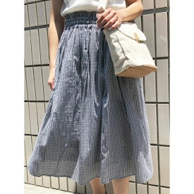 【Park Ave】ギンガムチェックギャザースカート/エージープラス(a.g.plus)