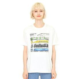 【ユニセックス】コラボレーションTシャツ/でんしゃのずかん(でんしゃのずかん)/グラニフ(graniph)