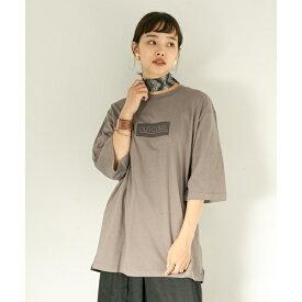 レディスカットソー(フロッキープリントビッグTシャツ(7分袖))/センスオブプレイスバイアーバンリサーチ(レディース)(SENSE OF PLACE)