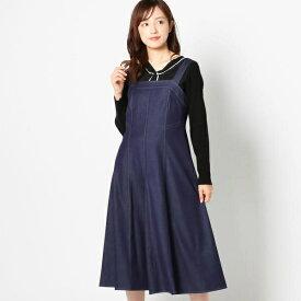 配色ステッチジャンパースカート/ミッシュ・マッシュ(MISCH MASCH)