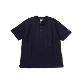 RUSSELL ATHLETIC×SHIPS:別注 ヘンリーネック Tシャツ/シップス(メンズ)(SHIPS)