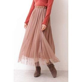  美人百花 10月号掲載 《EDIT COLOGNE》ストライプチュールレーススカート/プロポーションボディドレッシング(PROPORTION BODY DRESSING)