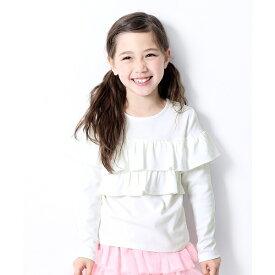子供服 キッズ ガールズデザイン 長袖Tシャツ 胸フリル 女の子 ベビー/デビロック(devirock)