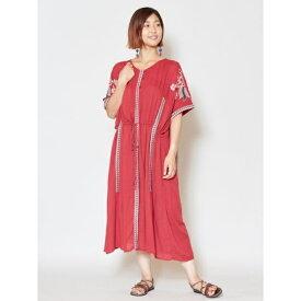 【チャイハネ】yul ロータス刺繍ワンピース/チャイハネ(CAYHANE)