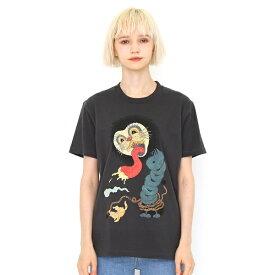 【ユニセックス】コラボレーションTシャツ/チキチキサーカス団ジャックキャット(石黒亜矢子)/グラニフ(graniph)