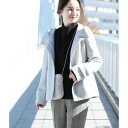 【蓄熱+静電気防止】フレンチウール混立ち襟フードショートコート/ビス(ViS)
