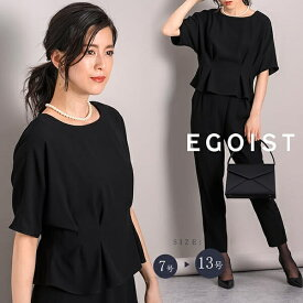 【EGOIST】【ブラックフォーマル】中縫いタックドルマンスリーブブラウス/レディース/喪服 /EGOIST (ラブリークィーン)