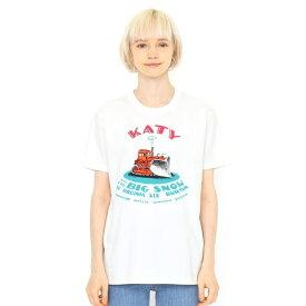 【ユニセックス】コラボTシャツ/はたらきもののじょせつしゃけいてぃー(ヴァージニアリーバートン)/グラニフ(graniph)