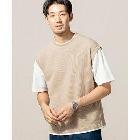 ニットベストフェイクTシャツ/ザ ショップ ティーケー(メンズ)(THE SHOP TK Mens)
