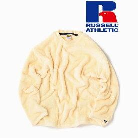 RUSSELL ATHLETIC×SHIPS: 別注 ビッグシルエット ボア フリース ポケット ト/シップス(メンズ)(SHIPS)