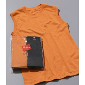 【Hanes FOR BIOTOP】Sleeveless T-Shirts(カラー)/アダム エ ロペ(レディース)(ADAM ET ROPE')