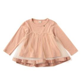 チュールドッキングTシャツ/プティマイン(petit main)