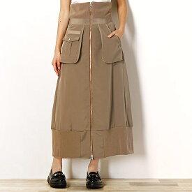 MA-1デザイン ミリタリーポケット付きロングスカート/ティティレイト ヴァレット(Titilate Valet)