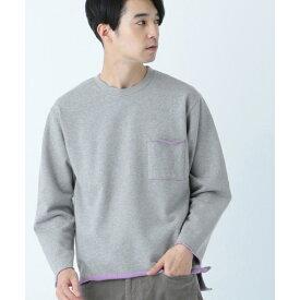 配色ミニ裏毛ロングスリーブ Tシャツ/シェアパーク メンズ(SHARE PARK MENS)