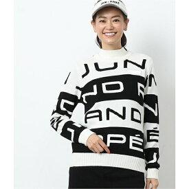 ビックロゴ配色長袖プルオーバー/ジュン&ロぺ(JUN&ROPE)