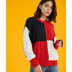 カラーブロックセーター/トミーヒルフィガー(レディース)(TOMMY)