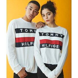 【オンライン限定】ロゴフラッグロングTシャツ/UPSTATE FLAG LS TEE/トミーヒルフィガー(メンズ)(TOMMY)