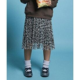 【親子連動/100〜130cm】レオパード チュール リバーシブル  スカート/エニィファム キッズ(any FAM KIDS)