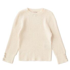 袖くるみボタンインナーニットTシャツ/プティマイン(petit main)