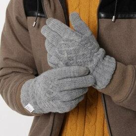 【スマホ対応】ケーブルニット手袋/ザ ショップ ティーケー(メンズ)(THE SHOP TK Mens)