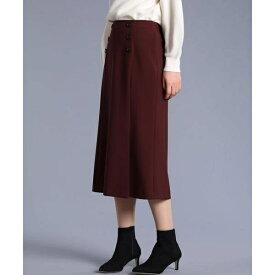 《大きいサイズ》ボタンデザインスカート《Maglie par ef-de》/ef-de L(エフデ)(ef-deL)