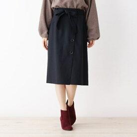 ウール調合繊ラップ風スカート/グローブ(grove)