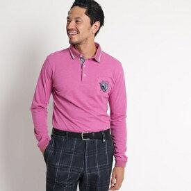【吸湿発熱】胸ポケット付き長袖ポロシャツ/アダバット(メンズ)(adabat(Mens))