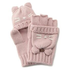ねこ2WAY手袋/プティマイン(petit main)